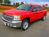 2013 Victory Red Chevrolet Silverado 1500 LT Crew Cab 4x4 #74572888