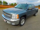 2013 Blue Granite Metallic Chevrolet Silverado 1500 LT Crew Cab #74572887