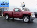 2013 Deep Ruby Metallic Chevrolet Silverado 1500 LT Regular Cab 4x4 #74572516