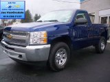2013 Blue Topaz Metallic Chevrolet Silverado 1500 LS Regular Cab 4x4 #74572515