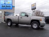 2013 Graystone Metallic Chevrolet Silverado 1500 LS Regular Cab 4x4 #74572514