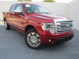 2013 Ruby Red Metallic Ford F150 Platinum SuperCrew #74572676