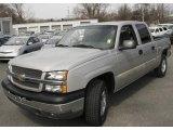 2004 Silver Birch Metallic Chevrolet Silverado 1500 LS Crew Cab 4x4 #7441662