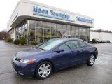 2007 Royal Blue Pearl Honda Civic LX Coupe #74572633