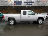 2013 Silver Ice Metallic Chevrolet Silverado 1500 LT Extended Cab 4x4 #74572622