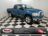 2006 Atlantic Blue Pearl Dodge Ram 1500 SLT Quad Cab #74624810