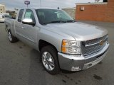 2013 Silver Ice Metallic Chevrolet Silverado 1500 LT Extended Cab 4x4 #74624936