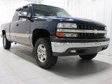 2000 Indigo Blue Metallic Chevrolet Silverado 1500 Z71 Extended Cab 4x4 #74624800