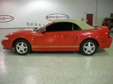2000 Laser Red Metallic Ford Mustang V6 Convertible #7437019
