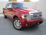 2013 Ruby Red Metallic Ford F150 Platinum SuperCrew #74624615