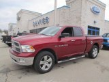 2011 Deep Cherry Red Crystal Pearl Dodge Ram 1500 Big Horn Quad Cab 4x4 #74624600