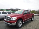 2007 Inferno Red Crystal Pearl Dodge Ram 1500 SLT Quad Cab 4x4 #74624738