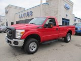 2012 Vermillion Red Ford F250 Super Duty XL Regular Cab 4x4 #74624598
