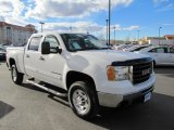 2007 Summit White GMC Sierra 2500HD SLE Crew Cab 4x4 #74624847