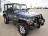 2002 Jeep Wrangler Steel Blue Pearl