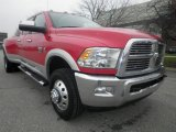 2012 Flame Red Dodge Ram 3500 HD Laramie Crew Cab 4x4 Dually #74684811