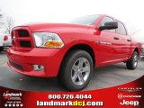 2012 Flame Red Dodge Ram 1500 Express Crew Cab #74684278