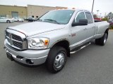2008 Bright Silver Metallic Dodge Ram 3500 Big Horn Edition Quad Cab 4x4 Dually #74684572