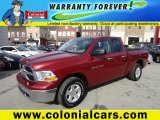 2011 Deep Cherry Red Crystal Pearl Dodge Ram 1500 SLT Quad Cab 4x4 #74684768