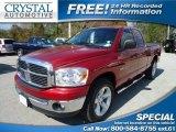 2007 Inferno Red Crystal Pearl Dodge Ram 1500 SLT Quad Cab #74684559