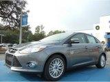 2012 Sterling Grey Metallic Ford Focus SEL Sedan #74684223