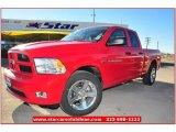 2012 Flame Red Dodge Ram 1500 Express Quad Cab #74684444