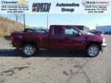 2013 Deep Ruby Metallic Chevrolet Silverado 1500 LT Extended Cab 4x4 #74732497