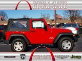 2012 Flame Red Jeep Wrangler Sport S 4x4 #74732262