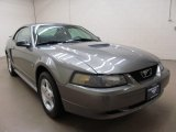 2001 Mineral Grey Metallic Ford Mustang V6 Coupe #74732226