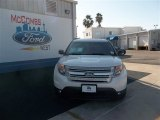 2013 White Platinum Tri-Coat Ford Explorer XLT #74732309