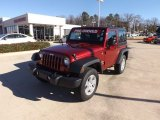 2012 Deep Cherry Red Crystal Pearl Jeep Wrangler Sport S 4x4 #74732669