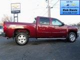 2013 Deep Ruby Metallic Chevrolet Silverado 1500 LT Crew Cab 4x4 #74786542