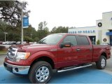 2013 Ruby Red Metallic Ford F150 XLT SuperCrew 4x4 #74786673