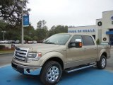 2013 Pale Adobe Metallic Ford F150 Lariat SuperCrew 4x4 #74786666
