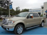 2013 Pale Adobe Metallic Ford F150 Lariat SuperCrew #74786664