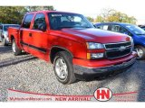 2006 Victory Red Chevrolet Silverado 1500 LT Crew Cab #74786238