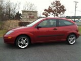 2003 Sangria Red Metallic Ford Focus ZX3 Coupe #74786915