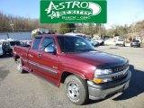 2001 Dark Carmine Red Metallic Chevrolet Silverado 1500 Z71 Extended Cab 4x4 #74787214