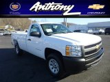 2013 Summit White Chevrolet Silverado 1500 Work Truck Regular Cab 4x4 #74787319