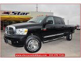 2009 Brilliant Black Crystal Pearl Dodge Ram 3500 Laramie Mega Cab 4x4 #74850713