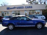 2005 Sonic Blue Metallic Ford Mustang V6 Deluxe Convertible #74868700