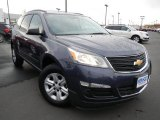 2013 Atlantis Blue Metallic Chevrolet Traverse LS AWD #74879747