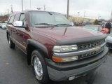 2000 Dark Carmine Red Metallic Chevrolet Silverado 1500 LS Extended Cab 4x4 #74879530