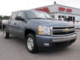 2008 Blue Granite Metallic Chevrolet Silverado 1500 LT Crew Cab #7482071