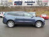 2013 Atlantis Blue Metallic Chevrolet Traverse LT AWD #74879522