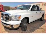 2008 Bright White Dodge Ram 1500 SLT Quad Cab #7483186