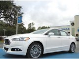 2013 White Platinum Metallic Tri-coat Ford Fusion Titanium #74925137