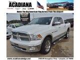 2011 Bright White Dodge Ram 1500 Laramie Crew Cab #74925226
