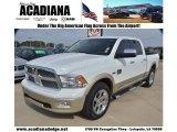 2011 Bright White Dodge Ram 1500 Laramie Longhorn Crew Cab #74925222