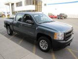 2010 Blue Granite Metallic Chevrolet Silverado 1500 Crew Cab #74925406